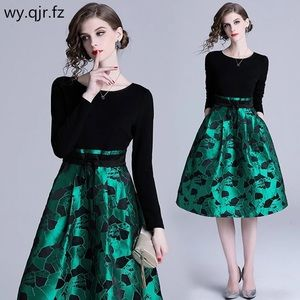 Splicing short Evening Dresses Green wedding part